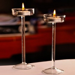 Elegant glass candle holder - stand
