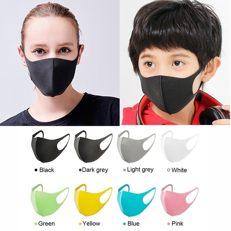 Protective anti-bacterial face mask for adults & kids 3 pieces