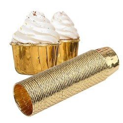 Golden cup cake wrappers - 50 pieces