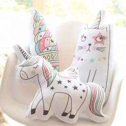 kawaii plush pillow - cute soft animal shaped doll - baby kids bedroom decoration - child cushion gift