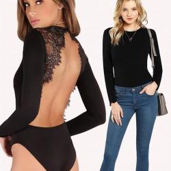Backless Lace Bodysuit