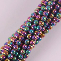 4MM Motley Magnetic Hematite Round Loose Beads Strand 16 Inch Jewelry For Woman Gift Making B088