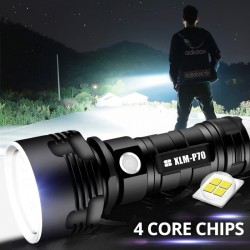 LED flashlight - L2 P70 XHP50 - torch - USB - waterproof - ultra bright