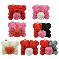 2020 new 25-35cm two rose bear artificial flower Valentines Day gift for girlfriend wife rose decor