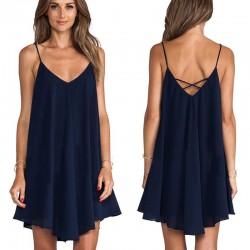 Irregular mini dress - sleeveless