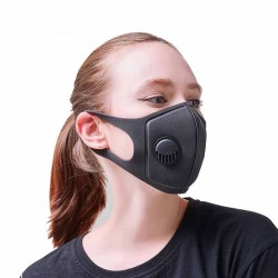 Pollution Mask Military Grade Anti Air Dust and Smoke Pollution Mask with Adjustable Straps and a Wa