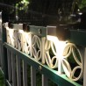 412pcs LED Solar Stairs Lights Outdoor Waterproof Garden Pathway Courtyard Patio Steps Fence Lamps