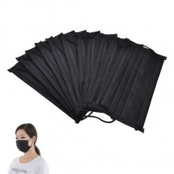 4-layer disposable antibacterial surgical face mask - mouth mask - 30 pieces - black