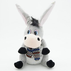 donkey with flapping ears talking speaking plush toys - singsing stuffed animals for children girls boys baby tiara