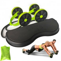 AB wheels roller stretch elastic abdominal resistance pull rope tool -AB roller for abdominal muscle trainer exercise