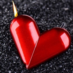 Creative Personality Folding Rotary Heart-shaped Gas Flame Lighter Cigarette Lighter Smoking Accesso