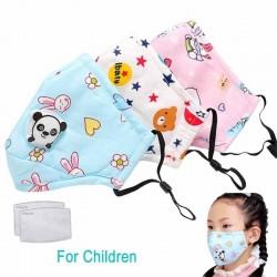 Maschera viso / bocca in carbone attivo PM25 con valvola - per bambini - incl. filtri extra