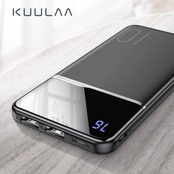 10000mAh Portable power bank - dual USB - external battery charger - lcd display