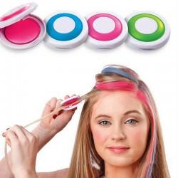 Coloured chalk powder - temporary hair dye