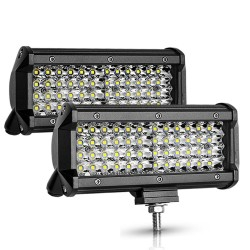 12V / 24V - 72W / 144W - Led light-bar - spotlight for trucks / off-road boats / cars / tractors 4x4 SUV ATV