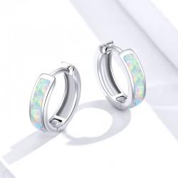 925 Sterling Silver Opal Earrings