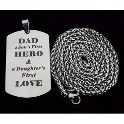 DAD'S HERO - stainless steel necklace