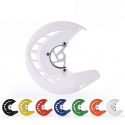 Motorcycle front brake disc protection guard - protective cover