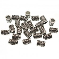 Futhark Viking Hair Bead - 24pcs/Set