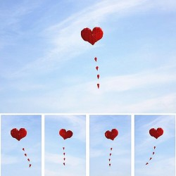 Heart Shaped Kite - Nylon