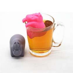 Silicone hippo shaped - tea infuser - reusable - 1pcs