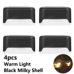 4 - 12 pieces - LED - solar - stair / fence / wall light lamp - waterproof