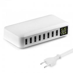 40W - Smart charger - multi port - 8 USB - 5V 8A - LED