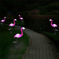 Pink flamingo - solar lamp - waterproof garden light