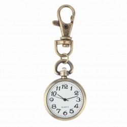 Bronze Quartz Pocket Watch - Keychain - Unisex