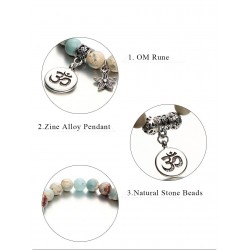 Bracelet with natural stones - handmade - unisex