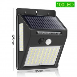 100 / 144 LED - solar outdoor lamp - motion sensor - garden light