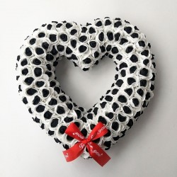 Heart shaped decoration - made of infinity roses