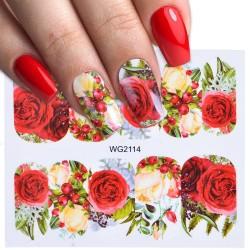 1pcs - Nails - Rose - Flowers - Nail Art - Manicure