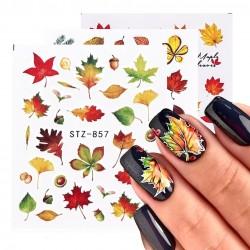 1pcs - Fall Leaves - Nail Art - Stickers - Maple Leaf