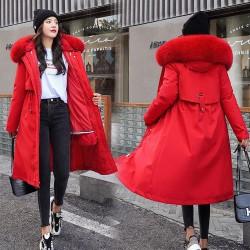 Cappotto invernale con fodera rimovibile - giacca lunga con cappuccio