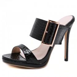 Sexy - Gladiator - Summer - PU - Women - Sandals - Black