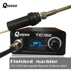 Soldering station - digital soldering iron - quick heating - T12 - STC T12 OLED display