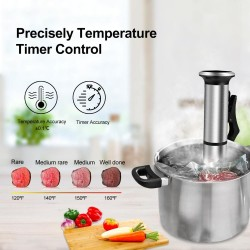 IPX7 Sous Vide - stainless steel digital immersion cooker - waterproof