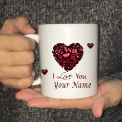 Personalized Coffee Mug - Custom Printed - Love Coffee Mug