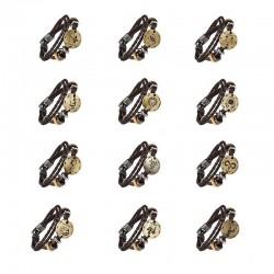 Zodiac signs leather bracelet - unisex