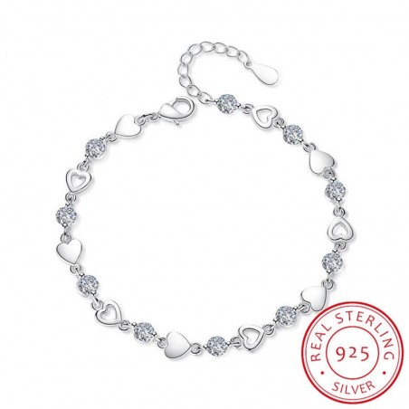 925 sterling silver - love heart - bracelets