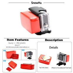 Gopro Float - Floaty Box - 3M Adhesive - Anti Sink - Gopro Hero 8 - 7 - 6 5