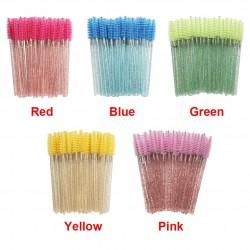 50PCS - Eye Makeup Brush - Pink - Blue