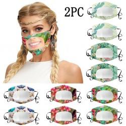2PC - Transparent Face mask...
