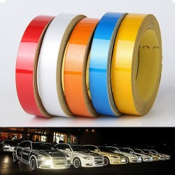 Reflective tape - car / motorcycle sticker - 1 cm * 5 m