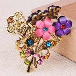 Claw Hair Clips - Women - Flower