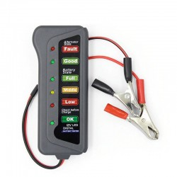 12V car battery tester - LED lights display