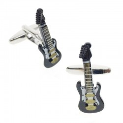 Brass cufflinks - musical instruments