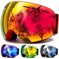 Ski goggles - winter snow sports - anti-fog - uv protection