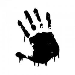 Bloody hand - car sticker